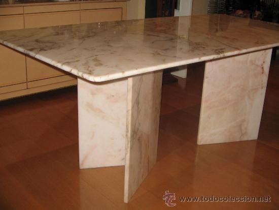 Mesa comedor en marmol rosa comprar muebles vintage en for Marmol para mesa