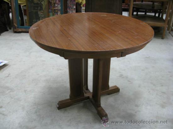 Mesa redonda extensible de sapeli chapada, idea - Sold through ...