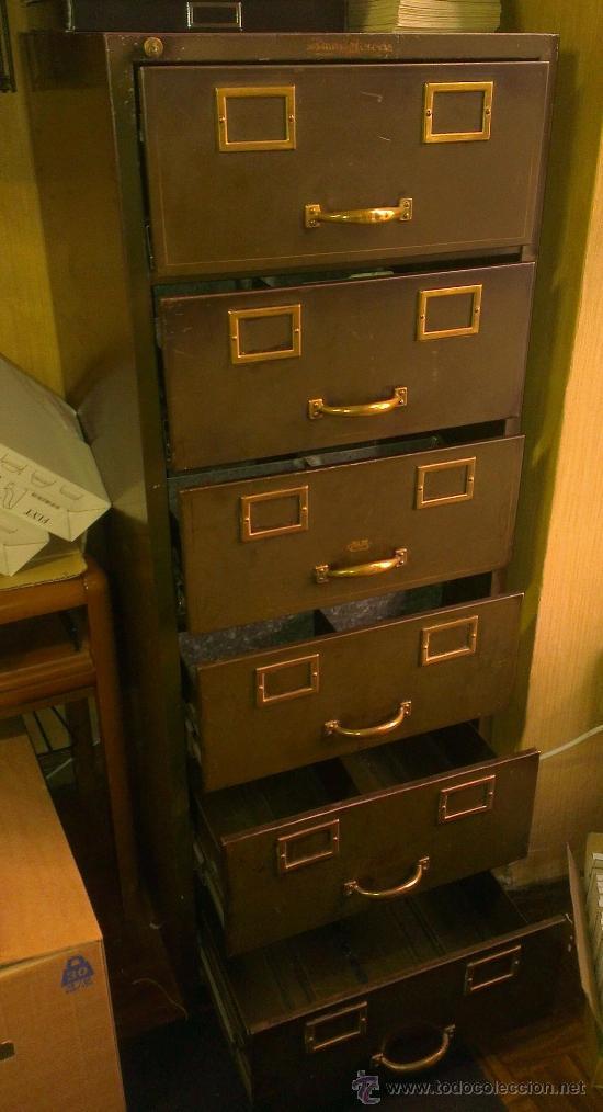 Archivador fichero metalico vintage de oficin comprar for Muebles de oficina vintage