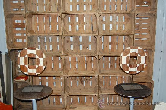 lote cajas maderaantiga caja de fruta para montaje de librerias 1 x 20 3 x 17u 10 x 12u - Muebles Con Cajas De Fruta