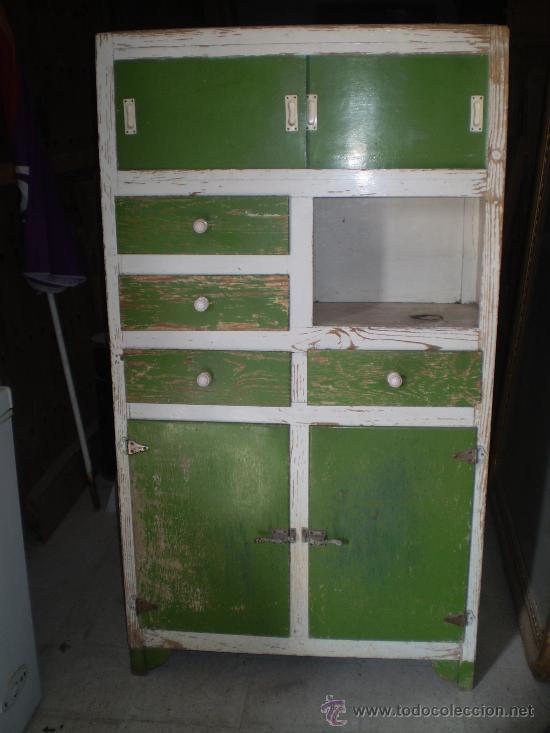 Armario de cocina a os 60 comprar muebles vintage en - Armario escobero cocina ...