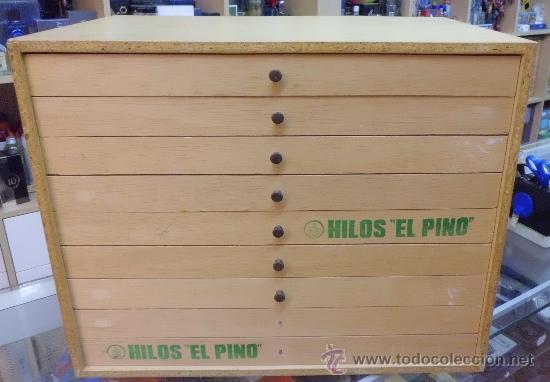 Cajonera de madera para hilos comprar muebles vintage en - Cajonera de madera ...
