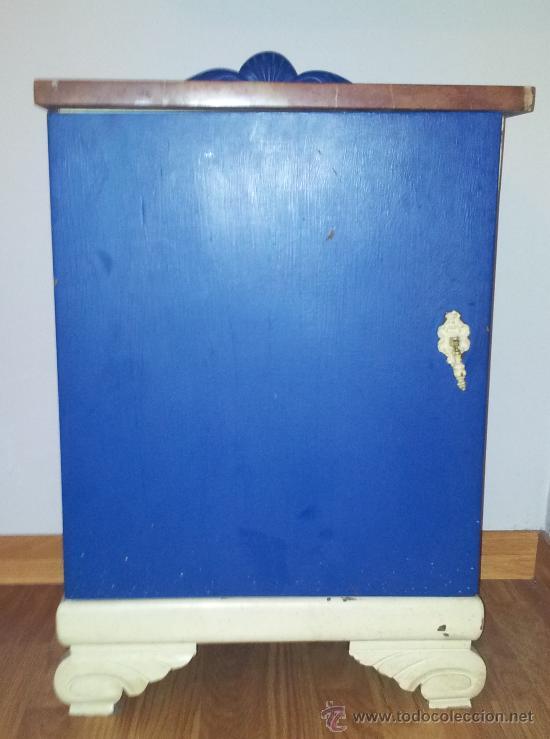 Antigua mesilla mesita de noche restaurada a os comprar for Mesitas de noche anos 50
