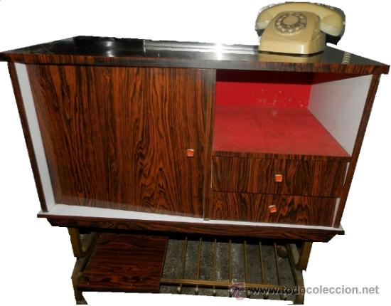 Mesa mueble bar tv televisor television a os 60 comprar - Television anos 70 ...