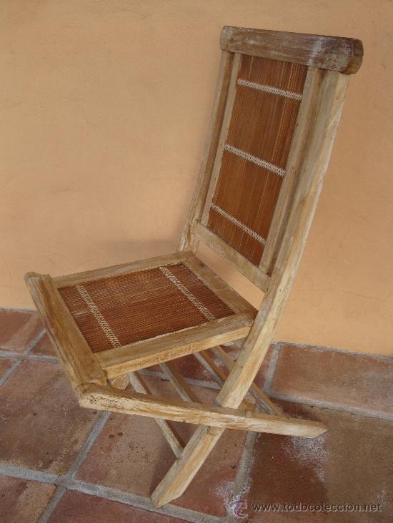 SILLA DE MADERA PLEGABLE (Vintage - Muebles)
