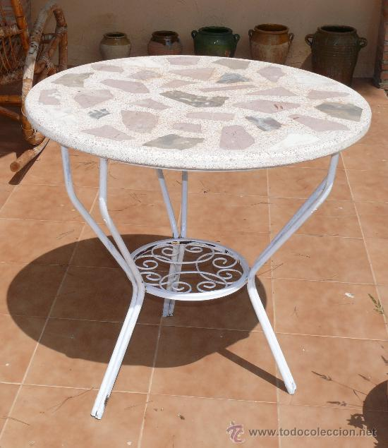 mesa hierro forja antigua jardin ideal terrazas - Comprar ... - photo#48