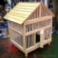 Vintage: Jaula decorativa de madera. Lote 38025634