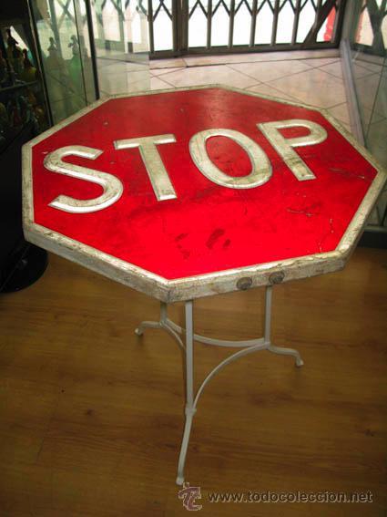 Mesa con pies de forja y sobre con se al de tr comprar - Comprar decoracion vintage ...