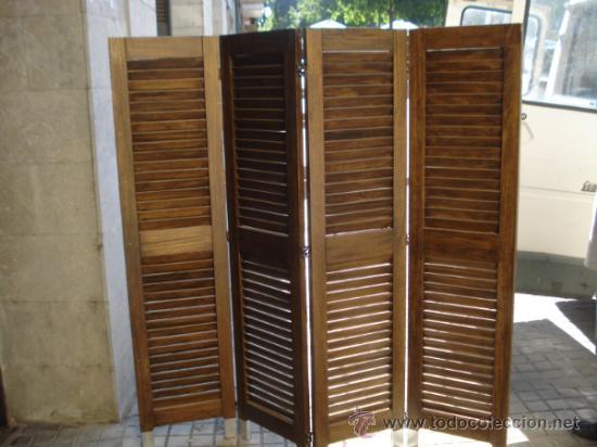 Biombo de persiana comprar muebles vintage en todocoleccion 38708741 - Persianas para muebles ...