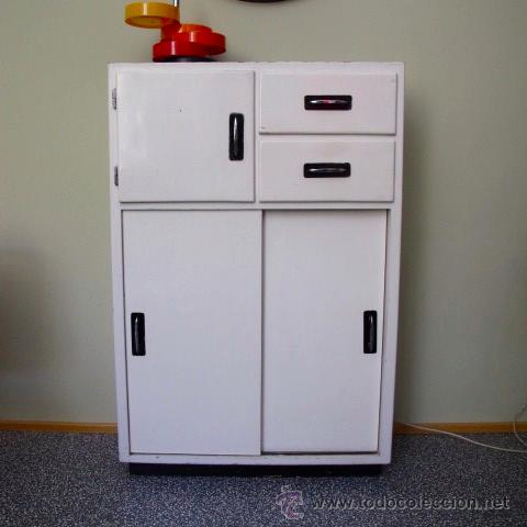 Mueble auxiliar peque o armario alacena antigua comprar for Mueble auxiliar cocina