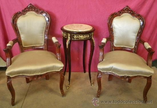 Soberbia pareja de sillones luis xv madera maci comprar for Muebles luis xv segunda mano