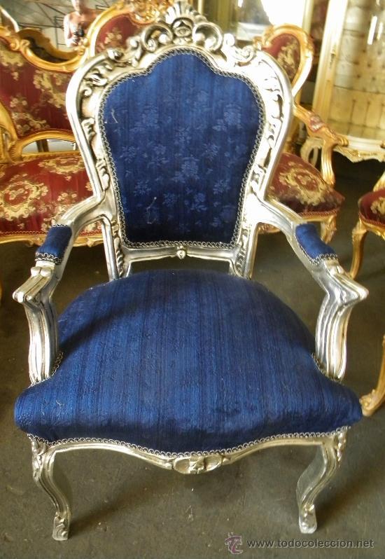 Bello sillon luis xv madera maciza elaborada pl comprar for Muebles luis xv segunda mano