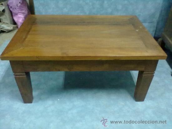 mesa rustica teca montada caja espiga salon,sof - Comprar Muebles ...