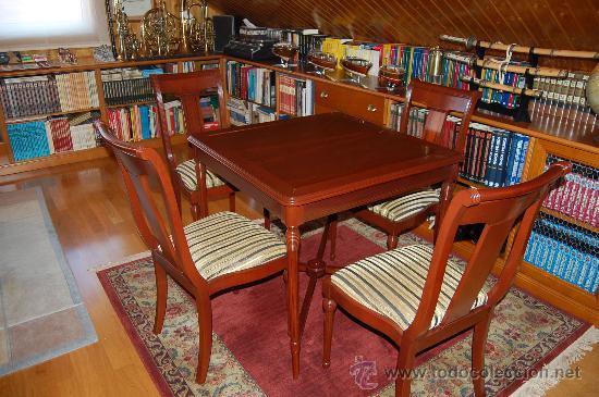Mesa De Juegos Mesa Con 4 Sillas De Madera R Comprar Muebles