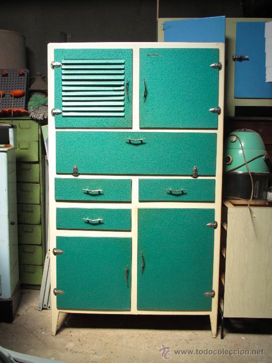 Alacena armario cocina vintage a os 50 a os 60 comprar for Muebles de cocina de 70 o 90