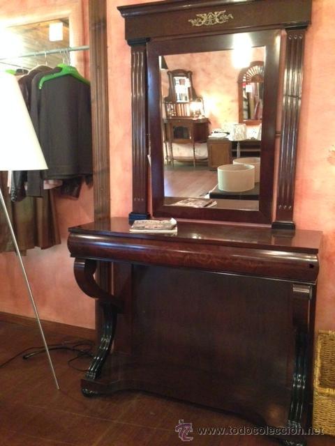 Consola con espejo estilo imperio comprar muebles for Muebles estilo imperio