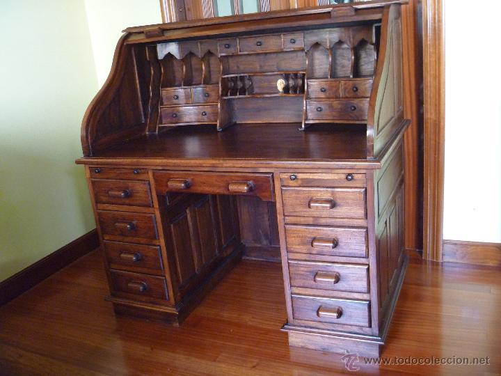 Tiendas De Muebles Segunda Mano : Escritorio bureau con persiana comprar muebles vintage