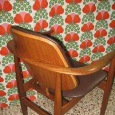 Vintage: CONSERVADO Y PRECIOSO SILLA FINN JUHL MADERA DISEÑO NORDIKO, ORIGINAL DE EPOCA AÑOS 1950.. Lote 39593664