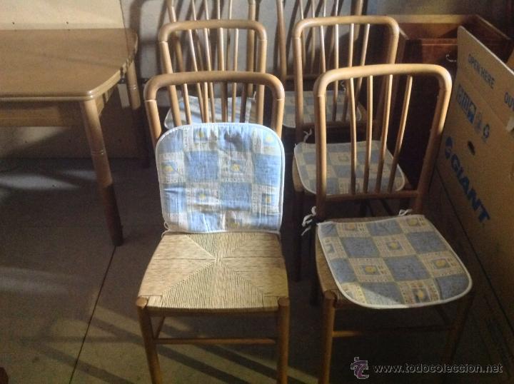 Juego de 6 sillas de comedor cocina a os 60 70 comprar - Sillas anos 60 ...