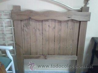 CABECERO PINO MACIZO COLOR ROBLE (Vintage - Muebles)