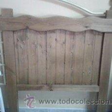 Vintage: CABECERO PINO MACIZO COLOR ROBLE. Lote 40180938