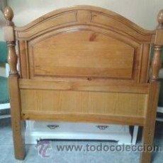 Vintage: CABECERO MADERA MACIZA COLOR TEKA. Lote 40180963