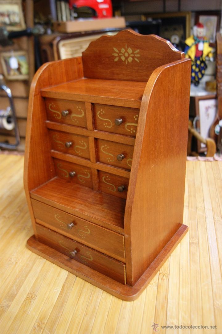 Mueble joyero con cajones estilo secreter jew comprar for Muebles estilo vintage online