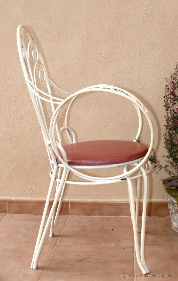 gran lote 4 sillas antigua vintage jardin hierr - Comprar ... - photo#14