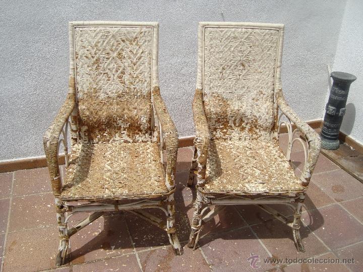 antiguos 2 sillones de mimbre para restaurar.añ - Comprar Muebles ...