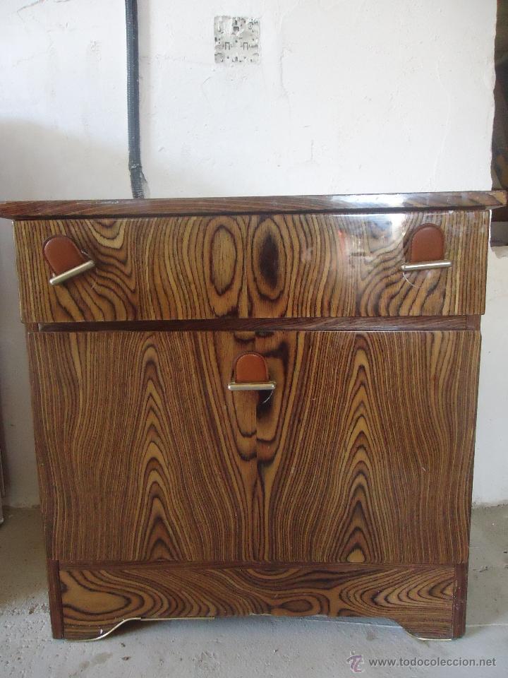 mesilla vintage formica diseño madera imitando - comprar muebles ... - Muebles De Diseno Vintage