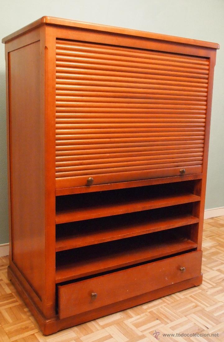 Mueble con cremallera para televisi n equipo d comprar muebles vintage en todocoleccion - Muebles para equipos de musica ikea ...