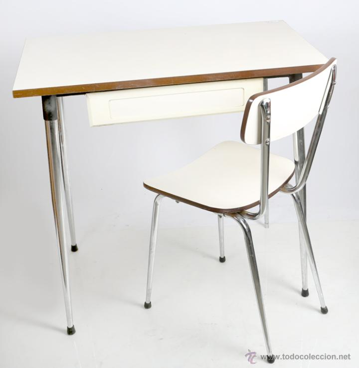 Mesa y silla de cocina a os 80 comprar muebles vintage - Mesa cocina vintage ...