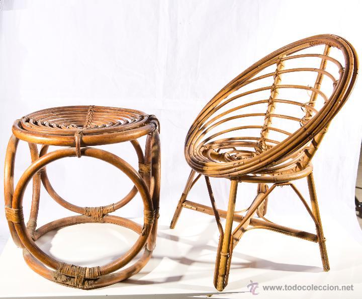 Mesa y silla infantil de mimbre comprar muebles vintage - Mesas de mimbre ...