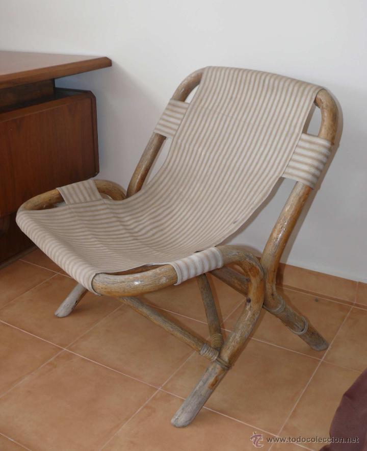 Gran sillon o silla estilo nordico en bambu vin comprar for Sillas tipo sillon