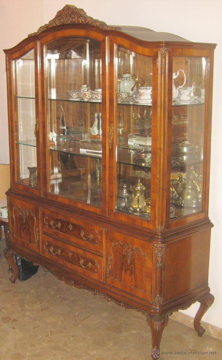 Vitrina de cristal segunda mano - Mueble vintage segunda mano ...
