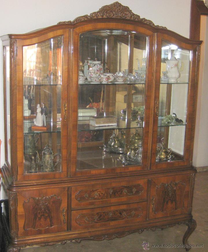Vitrina mueble valenciano estilo luis xv anteri comprar muebles vintage en todocoleccion - Muebles vintage valencia ...