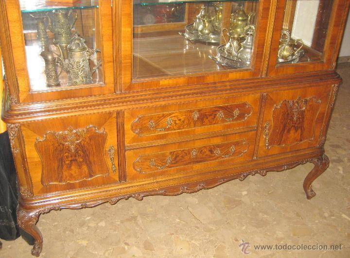Vitrina mueble valenciano estilo luis xv anteri comprar muebles vintage en todocoleccion - Mueble anos 50 ...