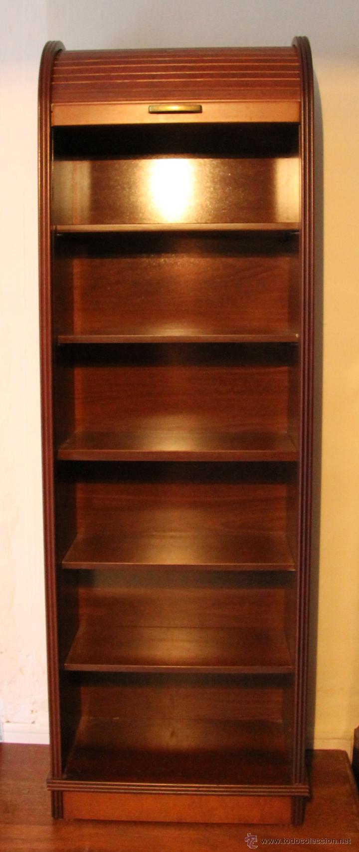 Mueble estanteria de madera con puerta correder comprar Librerias de pared