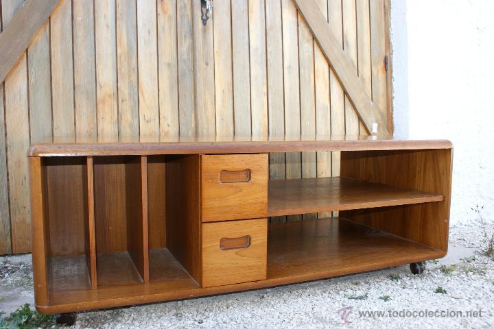 Vintage aparador bajo para tv de teca a os 60 comprar muebles vintage en todocoleccion - Aparador bajo ...