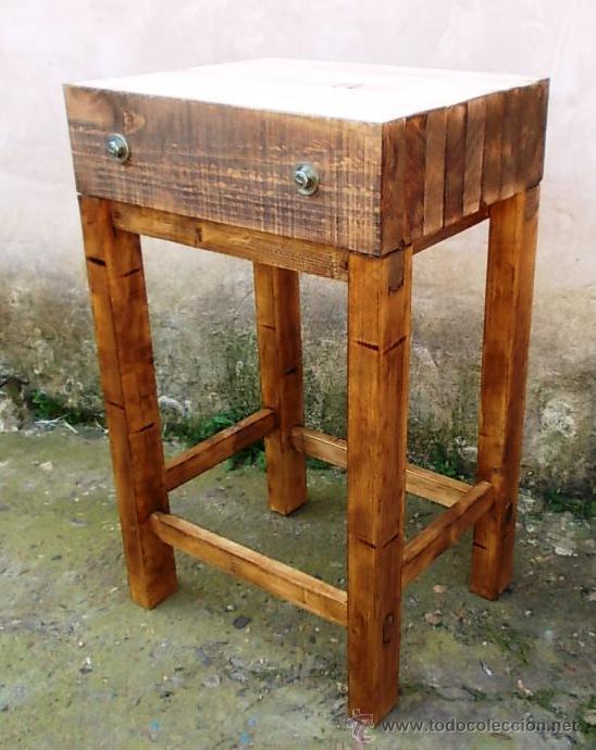 Mesa de carnicero en madera maciza muy robusta comprar for Mesa madera maciza