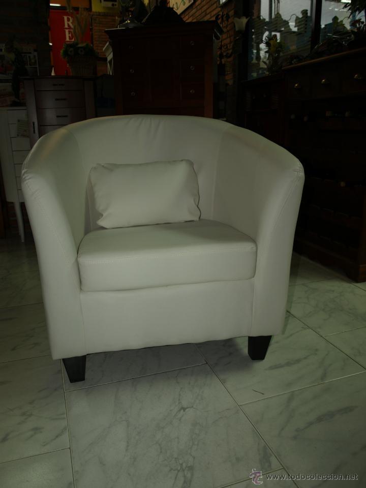 BUTACA EN BLANCO SILLON (Vintage - Muebles)