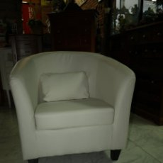 Vintage: BUTACA EN BLANCO SILLON. Lote 42905326