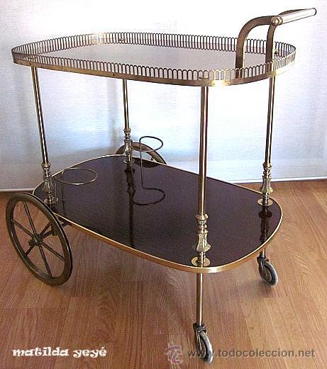 Camarera mesa carrito o carro para bebidas a os comprar muebles vintage en todocoleccion - Carrito camarera vintage ...