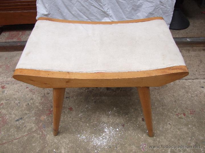 banqueta, calzador vintage años 60 en madera de - Comprar Muebles ...