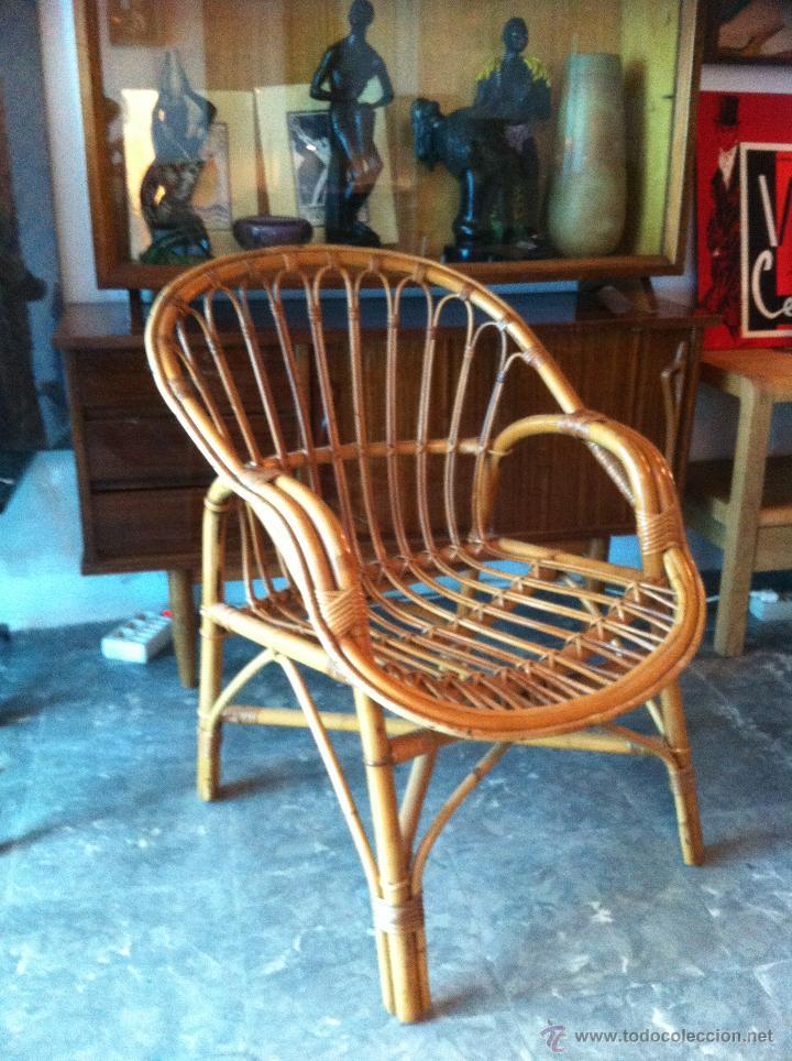 Preciosa butaca vintage de bamb comprar muebles vintage - Muebles de bambu ...
