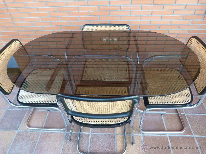 Conjunto de mesa de comedor y 4 sillas cesca ma vendido for Sillas vintage segunda mano