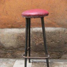 Vintage: 3 TABURETES VINTAGE. AÑOS 60 (80CM DE ALTO). Lote 43544072