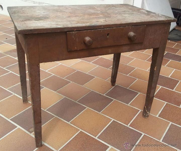 mesa tocinera de cocina de madera, años 40-50. - Kaufen Vintage ...