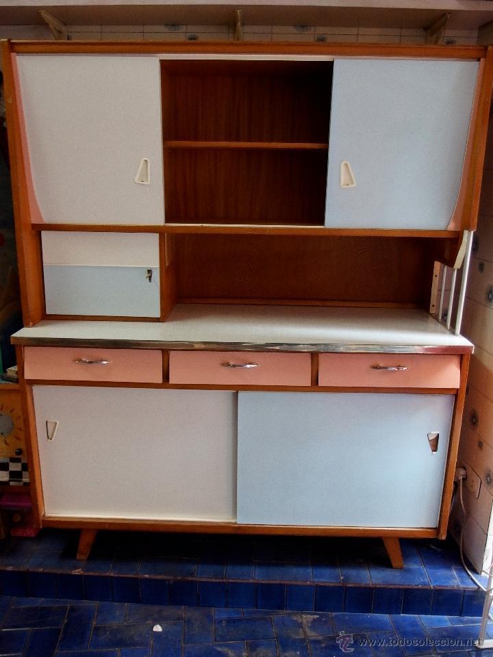 Gran mueble de cocina a os 60 superpop madera y comprar for Busco muebles de cocina de segunda mano