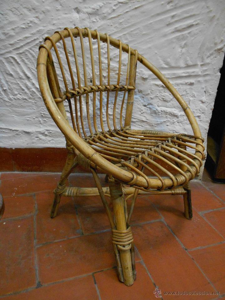 sillon mimbre bambu nio vintage s